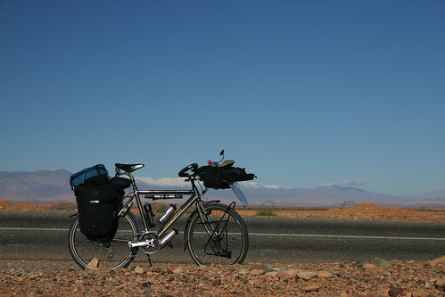 Spoiled cycling along the snowcapped summits of the High Atlas