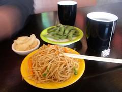 Blue C noodles edamame
