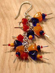 Primary colors earrings