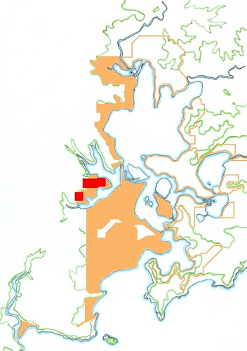 Location of Woy Woy fires 1st January 2006