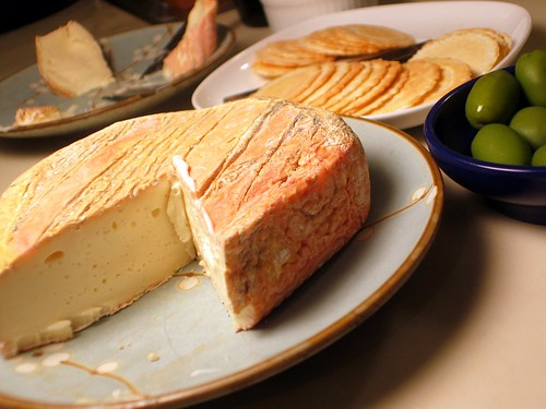 Pecorino, Crackers, and Olives