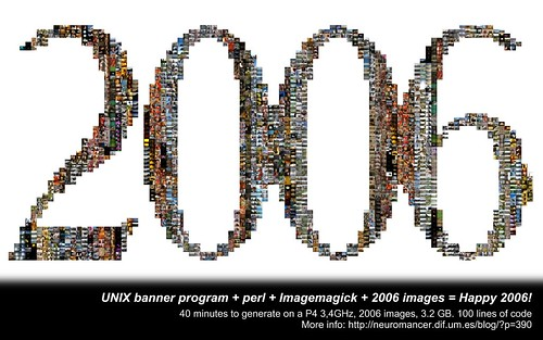UNIX banner program + perl + Imagemagick + 2006 images = Happy 2006!