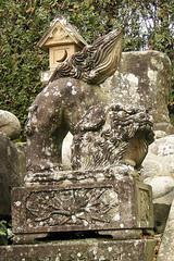 Guardian dog in Kifune-jinja