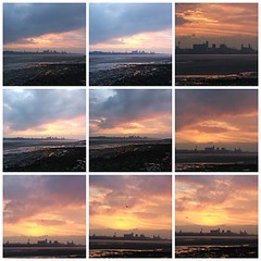 Sunrise over Liverpool (Mosaic): Copyright 5th January, 2006 Kevin & Jane Moor