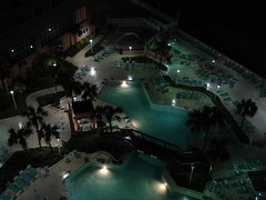 Nighttime Pool at Perdido Beach Resort, Orange Beach AL