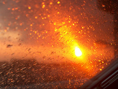 rain and sun in the evening, 090106