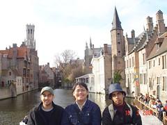 Sebuah Terusan di Bruges, Belgium