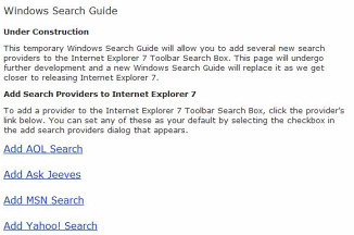 Windows Search Guide beta