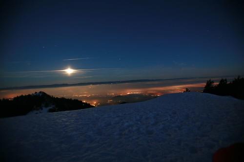 Moonshine over Lac Leman