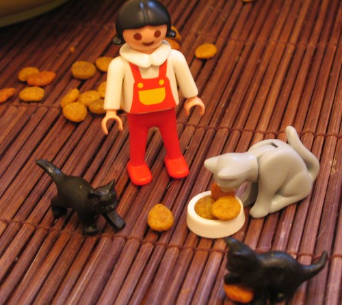 CRAZY CAT LADY PLAYMOBIL FROM GROC!!