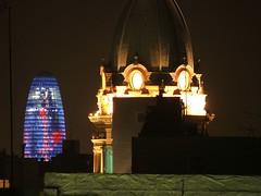 Torre Agbar at night -