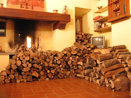 A ton of logs.