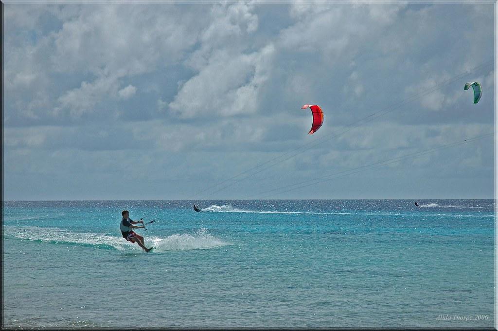 Para-sailing in Bonaire
