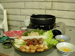 Sukiyaki set-up