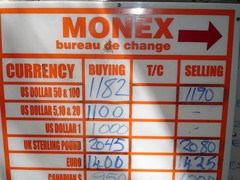 Exchange rates sign
