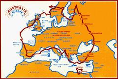 Perbandingan Saiz Australia & benua Europe