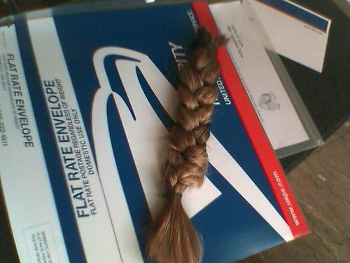The hair ...