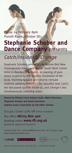 Stephanie Schober & Dance Company Flyer Back