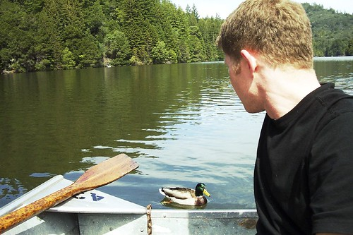 Cyrus and a Duck