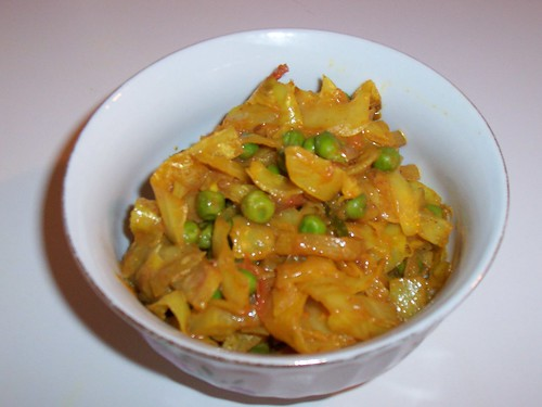 Cabbage with Peas