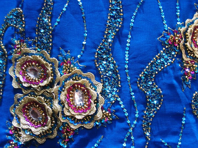 INDIAN EMBROIDERED FABRIC  Embroidery Designs