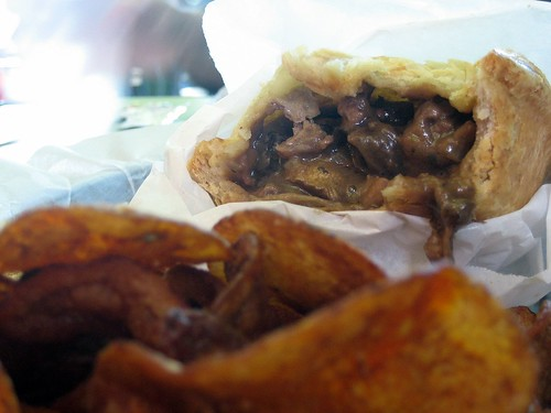 Steak and Mushroom Pie with Kettle Chips