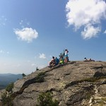 8-21-17 Enjoying the view and the solar eclipse from the top of Bald Mountain