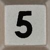 tabletop sudoku number 5