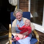 great great auntie lilian gives me a tickle<br/>29 May 2005