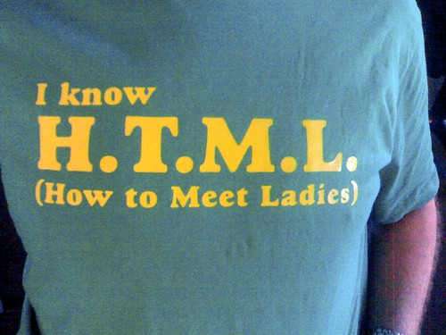 i know html: how to meet ladies