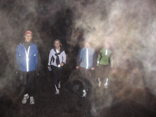 Training in the fog (more photos)