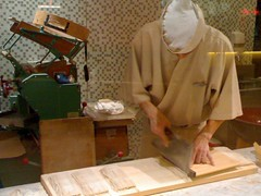 Making soba by hand