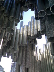 Sibelius Monument from below - Helsinki, Finland (1)