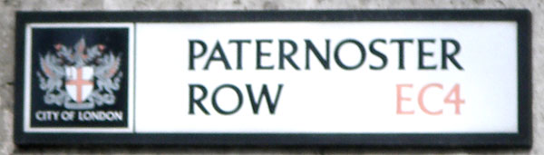 Paternoster-row sign