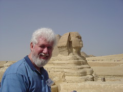 Dad and Sphinx in Egypt