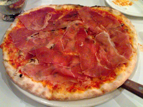 Parma Ham and Mushroom Pizza