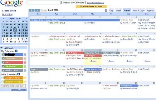 google calendar snapshot