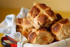 fig & pecan hot cross buns