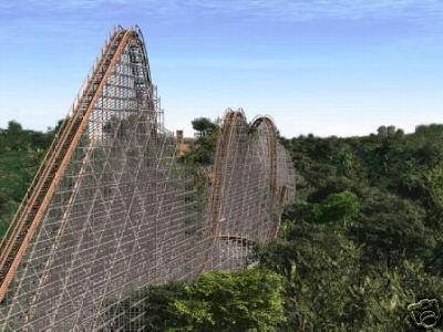 Wooden Roller Coaster Voyager