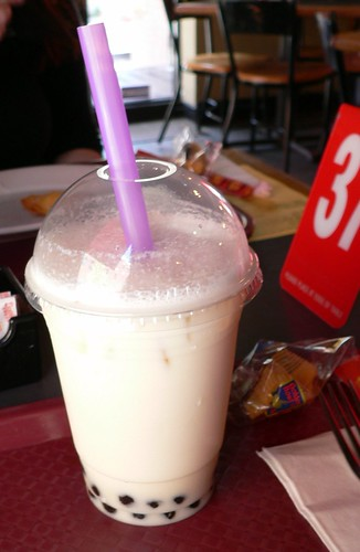 almond milk BUBBLE TEA