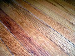cleaned hardwood floor
