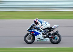 Mat Mladin on his GSXR superbike