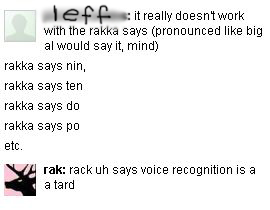 rack uh says voice recognition is a tard