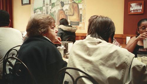 woman eating Mex Food