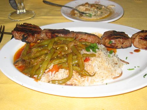 Lamb Kabobs at Karoun