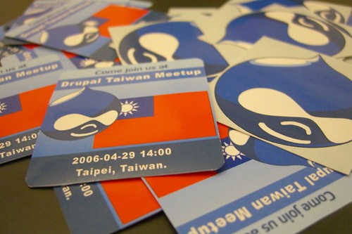 stickers for Drupal Taiwan meetup