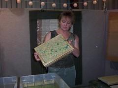 papermaking lady at Sugarloaf