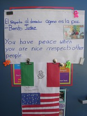 Benito Juárez Quote and a 2nd grade translation