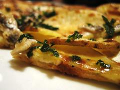 potato, anchovy, and ricotta