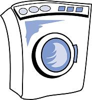 Man stopt hond in wasmachine